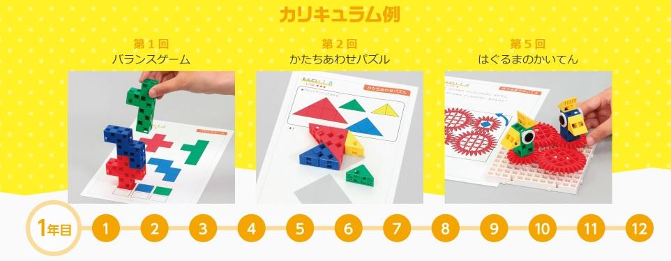 【自考力キッズ】パズルのカリキュラム例