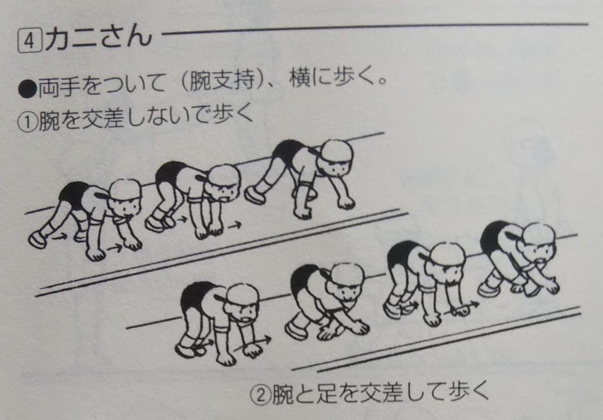 動物歩き『カニさん』