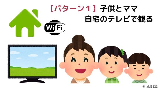 【dTVパターン1】自宅のテレビで観る