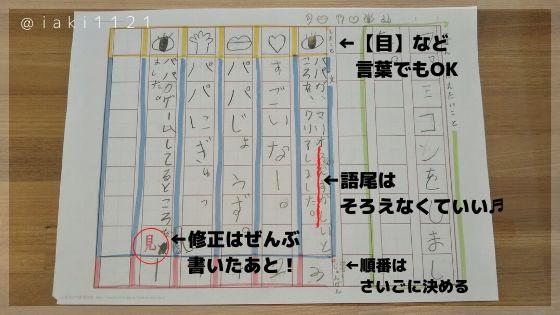 【小学生の作文】ワークシートの記入例